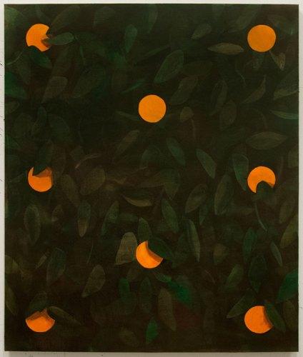 Ryan Mrozowski - Orange Painting 2, 2013, oil on linen, 50 x 40 inches