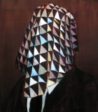 Scrim - 2010, Acrylic on canvas over panel, 17 x 15 inches