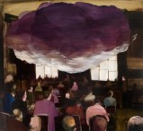 The Cloud - 2010, Acrylic on canvas over panel, 24 x 26 inches