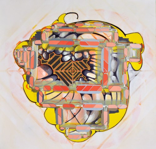 Near Earth Objects III - 2013, Acrylic on paper, 23 x 24 inches