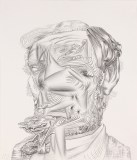 Untitled (Lincoln Noface) - 2012, Graphite on paper, 17 x 14.75 inches