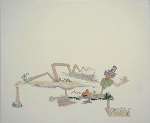 """Johan Nobell - """"Bone,"""" 2009, Oil on linen, 19.5 x 23.75 inches"""