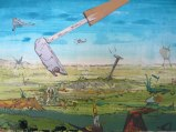 """Johan Nobell - """"Desperate Trails,"""" 2009, Oil on linen, 15.75 x 23.5 inches"""