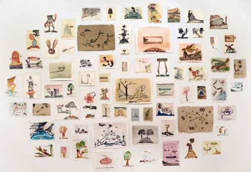 Johan Nobell - Unspoiled Monsters, 2010-13, Watercolor on paper, dimensions variable