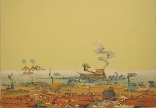 Price of Power - 2009, Oil on Linen, 23.5 x 33.5 inches