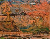 "Johan Nobell - ""The Feeder,"" 2008, Oil on linen, 19 x 24 inches"