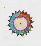 """John O'Connor - """"Zero,"""" Graphite and colored pencil on paper, 12.5 x 11 inches"""