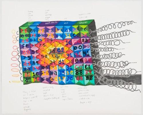 British Code - 2012, Graphite and colored pencil on paper