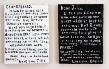 Love Letters (Diptych) - 2013, Acrylic on panel, 9 x 12 inches each panel