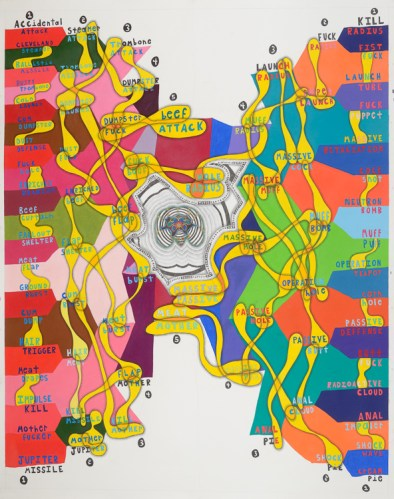 "John O'Connor - ""Sex and Violence,"" 2012, Graphite, colored pencil on paper, 77 x 59 inches"