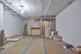 """Andrew Ohanesian - """"5000 SqFt WILL DIVIDE,"""" 2019, Site specific installation, Mixed Media, 11 (H) x 25 (W) x 60 (D) feet (Photo: Dan Levin)"""