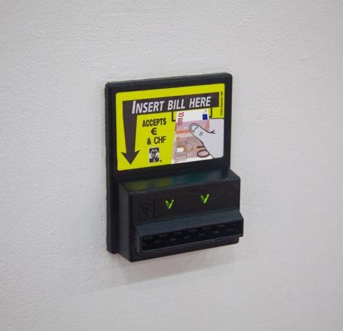 "Andrew Ohanesian - ""Bill Acceptor,"" 2014, MEI Series Bill Acceptor Validator, 10,16 x 12,7 x 5,1 cm"
