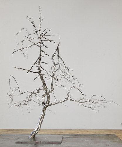 "Roxy Paine - ""Model for Discrepancy,"" Stainless Steel, 36 (H) x 30 (W) x 24 (D)"