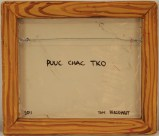 Puuc Chac Tko - 2011, Oil paint on cast plastic, 12 1/2 x 14 1/2 inch