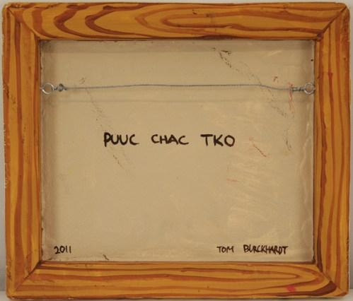 Puuc Chac Tko - 2011, Oil paint on cast plastic, 12 1/2 x 14 1/2 inch