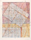 """Mark Reynolds - """"Marriage of Incommensurables Series: 1.902 and Root 2, 4.13, Feb. 2013, Graphite, ink, colored pencil and pastel on cotton paper, 14 x 11 inches"""