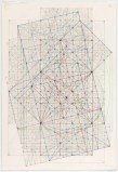 "Mark Reynolds - ""Phi Series: Root Five Grouping, 1.5.15 18,"" 2015, Graphite, colored inks, color pencils, and pastels on cotton paper, 20.75 x 13.9375 inches"