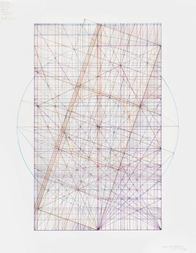 """Mark Reynolds - """"Phi/Square Root Phi Series: 5.3.14,,"""" 2014, Pastel, ink and graphite on cotton paper, 12.75 x 8.875 inches"""
