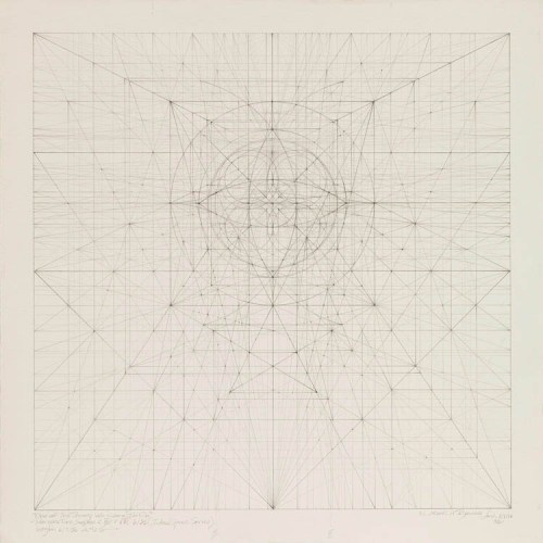 Square Series: One of the Things We Came in On, 6.9.9630 - 1996, Graphite on cotton paper, 13.125 x 13,125 inches