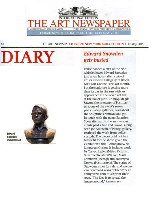 The Art Newspaper May 13-14,2015