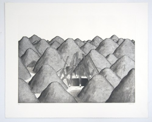 Digging the largest Hole on Earth - 2008, Etching