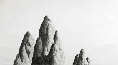 Emergency Supply Peaks - 2006, Graphite on Paper, 42 x 72 inches