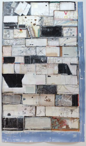 "David Scher - ""Case One,"" 2014, Mixed media on paper, 78.75 x 46 inches"