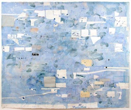 "David Scher - ""Highway 6 Volt,"" 2018, Mixed media on paper, 45 x 55 inches"