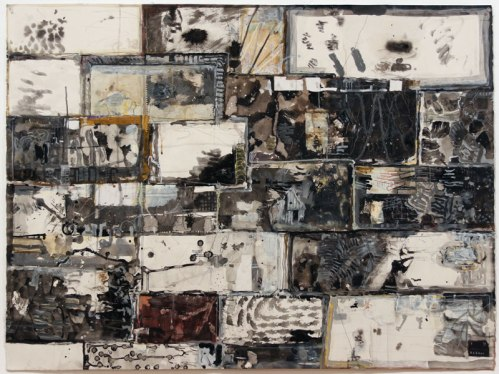 David Scher - Untitled, 2012, Mixed media on paper, 33.5 x 44.5 inches