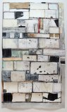 """David Scher - """"Case Two"""" 2014, Flashe and ink on Arches paper, 46 x 78.75 inches"""