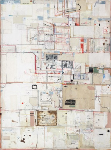 "David Scher - ""Case IV,"" 2014, Mixed media on paper, 59.5 x 44 inches"