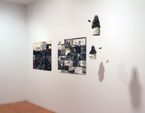 no title - Installation view: Suspended Interruption at Pierogi, October 2014