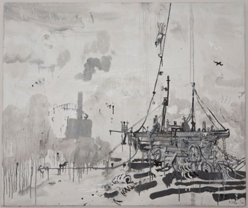 Untitled - 2010, Oil-base enamel on linen, 42 x 50 inches