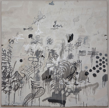 Untitled - 2010, Oil-base enamel on linen, 48 x 48 inches