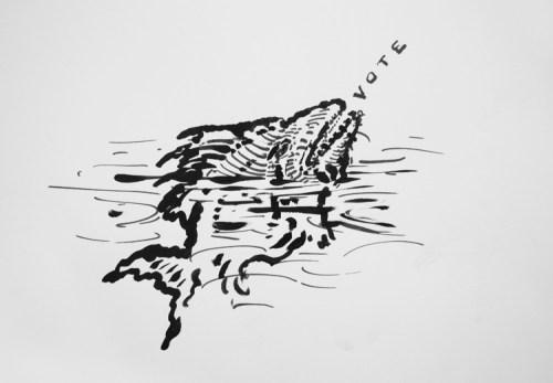 """David Scher (2) - """"Vote (fish)"""""""