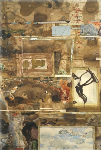 David Scher - Detail:  Untitled (Scroll 2020), 2020, Mixed media on paper