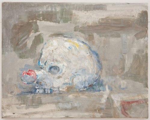 Clown Skull - 2010, Acrylic on canvas, 11 x 14 inches