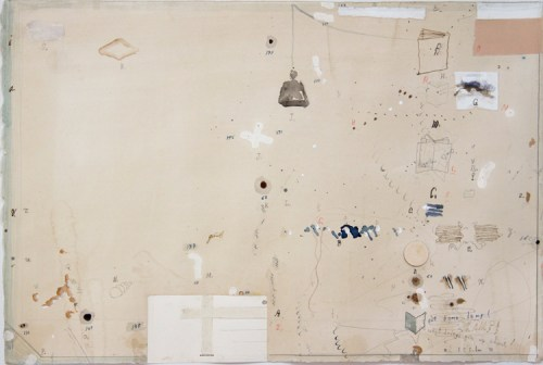 """David Scher - """"Untitled,"""" 2012, Mixed media on paper, 15 x 22 1/2 inches"""