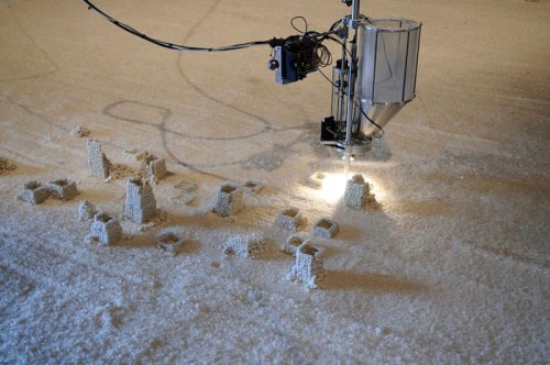 Detritus (Installation view) - 2013, Mechanical components, salt, dimensions variable