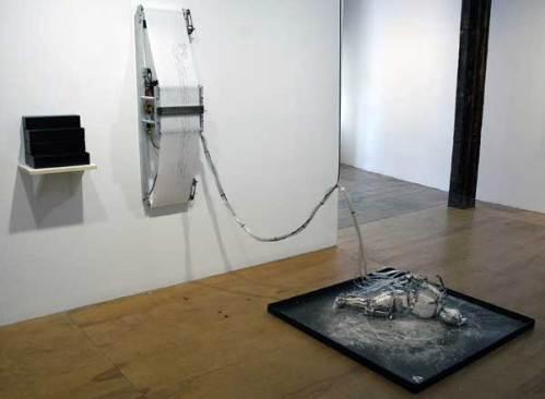 "Jonathan Schipper - ""Raining Blood,"" 2005, Mixed Media, Dimensions Variable"
