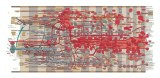 Extra Large Fluxus Diagram v.1 - 2011, Oil and toner on mylar, 35 x 74 inches