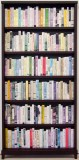 """Ward Shelley and Douglas Paulson - """"The Last Library (The Shrinking of Our Soul),"""" 2016, Paper, ink, wood, 72 x 36 inches"""