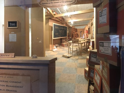 "Ward Shelley and Doulas Paulson - ""The Room Where It Happened,"" Installation View, Pierogi, September 2020"