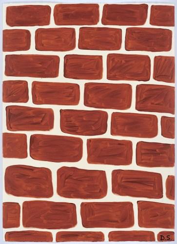 David Shrigley (Anton Kern) - Untitled, 2015, Acrylic on paper, 60 3/8 x 43.75 inches