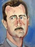 "no title - Jonathan Grossmalerman, ""Assad (small),"" Acrylic on canvas"