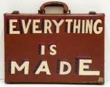 Everything Is Made - 2011, enamel on found suitcase, 16 x 12 x 3 inches