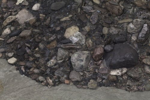 Corner Piece #2, Hudson non-site - 2011, Polychromed polymerized gypsum, aluminium, 19 x 82 x 68 inches