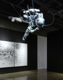 Tavares Strachan, Finding My Way Home (Exploded Astronaut) - 2011, Cast resin and steel, dimensions variable