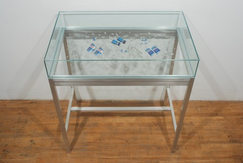 Kalik Top - 2008, Glass, Paper, Aluminum, Approx. 48 x 50 x 24 inches