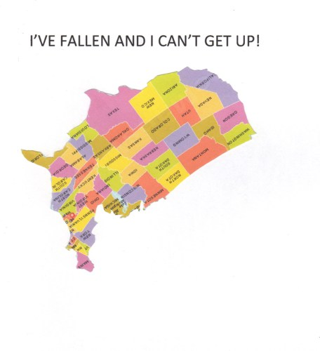 """Fred Tomaselli (2) - """"I've fallen and I can't get up"""""""